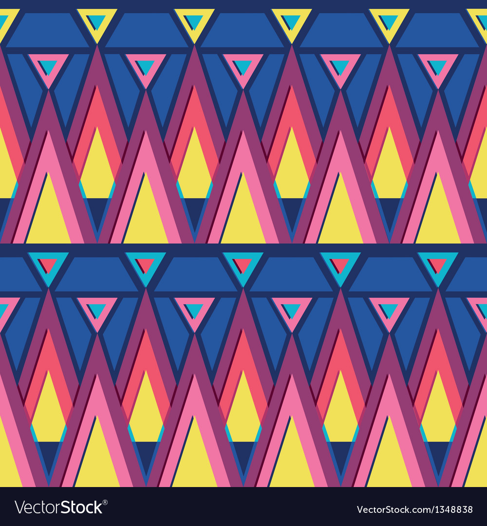 Vibrant triangles seamless pattern background vector | Price: 1 Credit (USD $1)