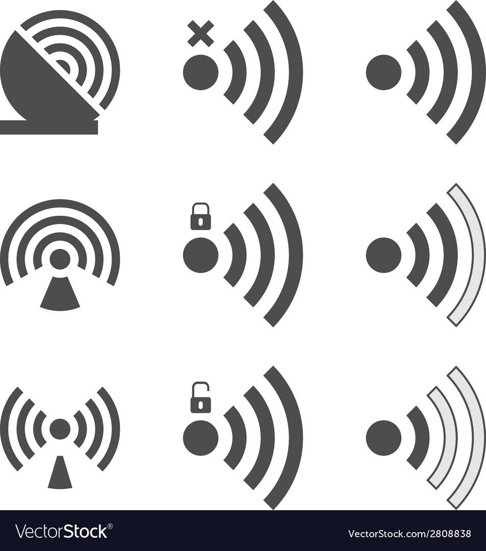 Wifi icon vector | Price: 1 Credit (USD $1)