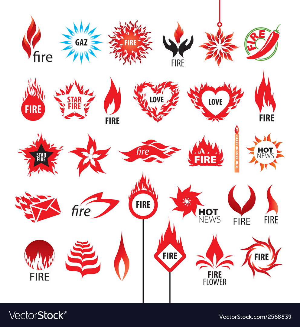Biggest collection of logos fire and flames vector | Price: 1 Credit (USD $1)