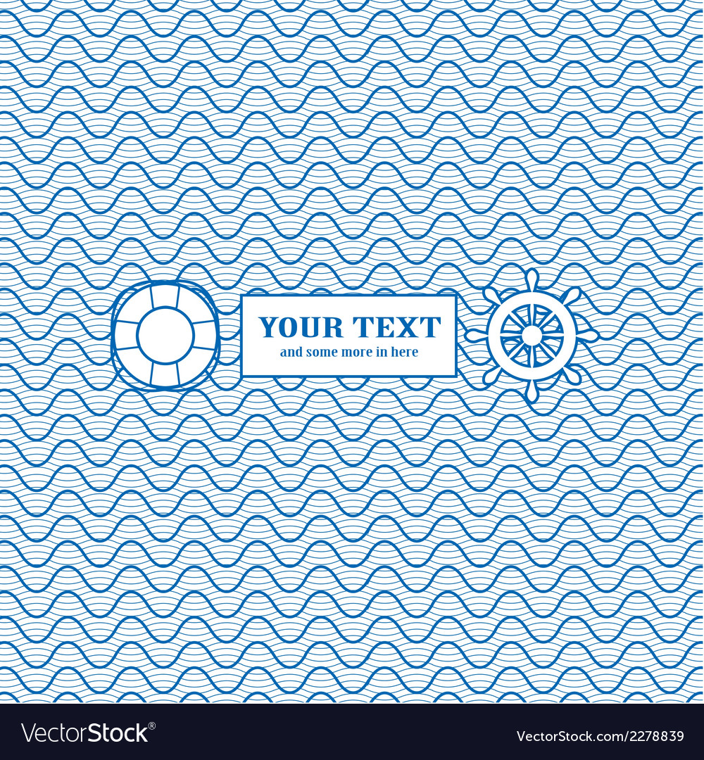 Blue and white marine background vector | Price: 1 Credit (USD $1)
