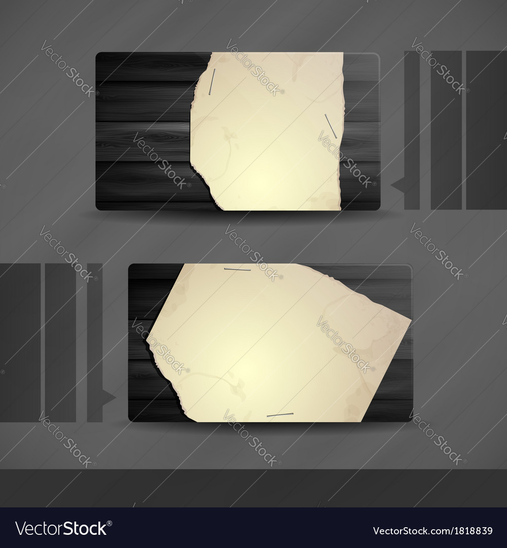 Business card design with wood texture vector | Price: 1 Credit (USD $1)