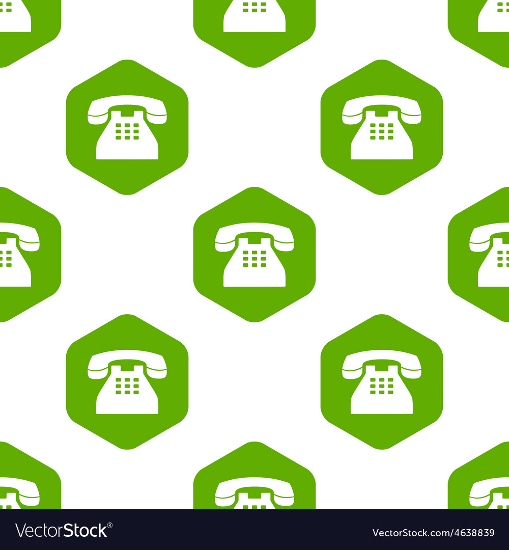 Old phone pattern vector | Price: 1 Credit (USD $1)