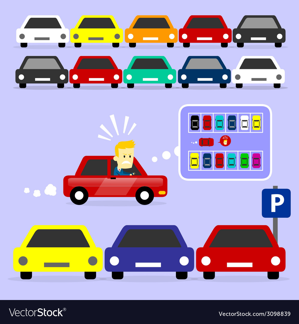 Parking lot is full vector | Price: 1 Credit (USD $1)