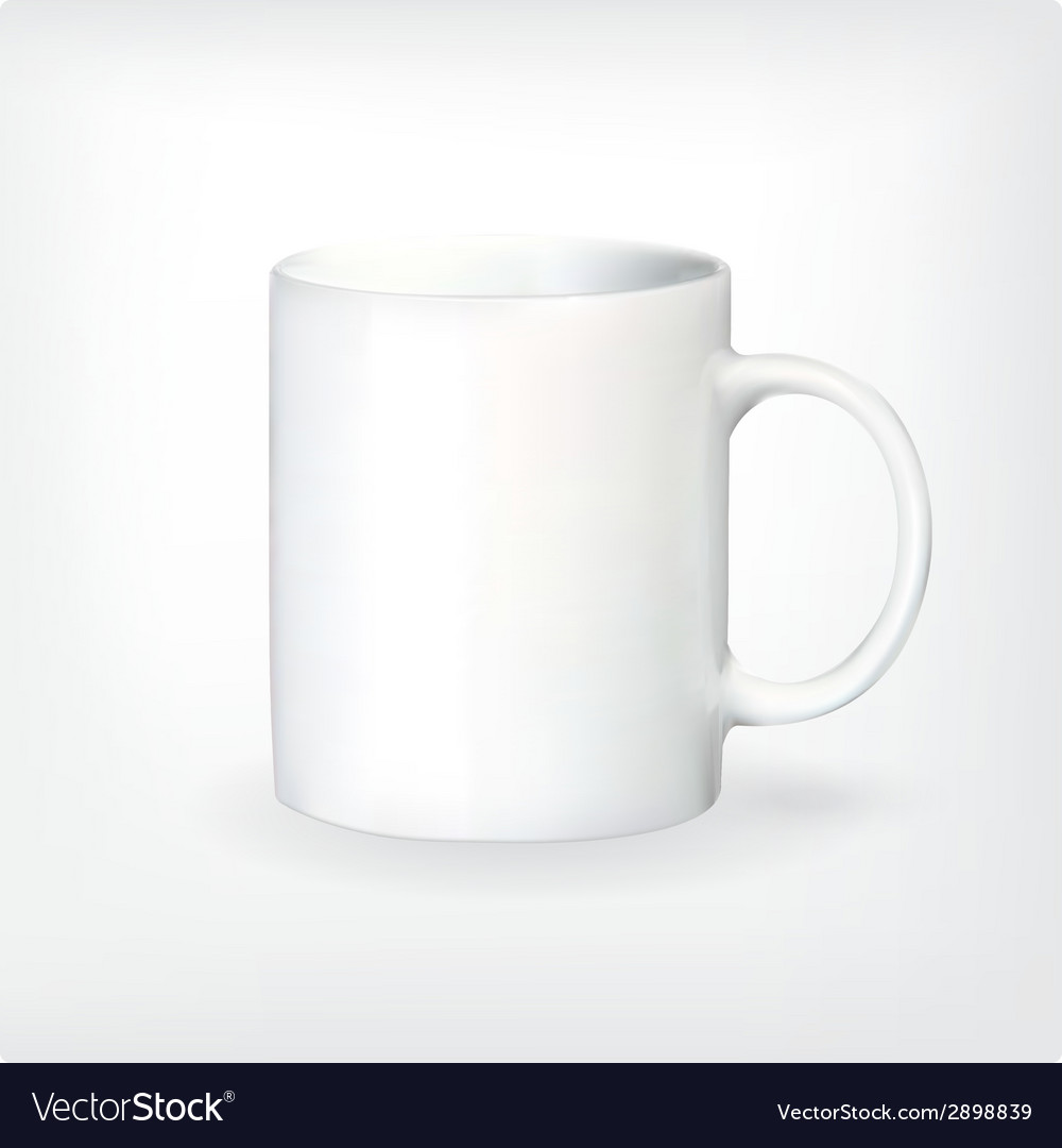 Realistic tea or coffee cup vector | Price: 1 Credit (USD $1)