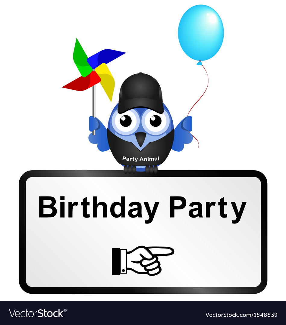 Sign birthday party vector | Price: 1 Credit (USD $1)