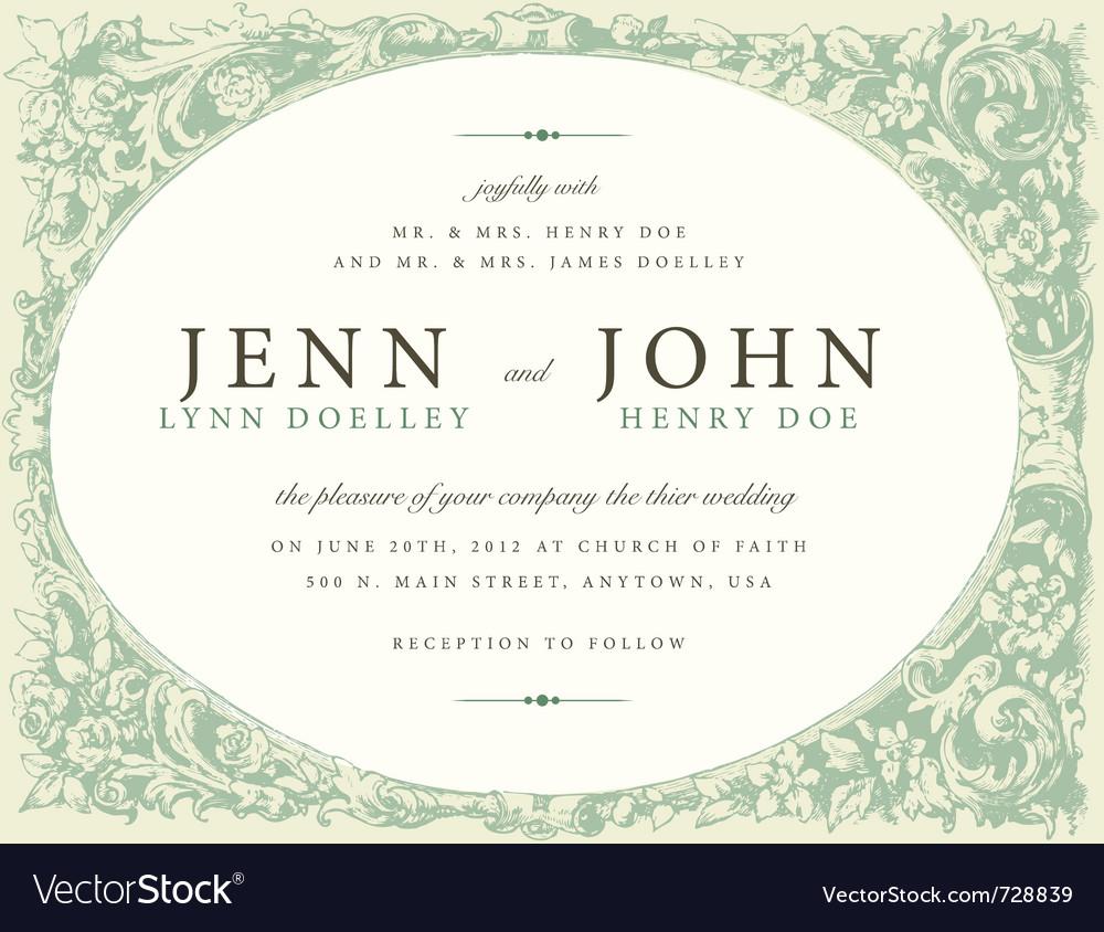 Wedding invite vector   Price: 1 Credit (USD $1)