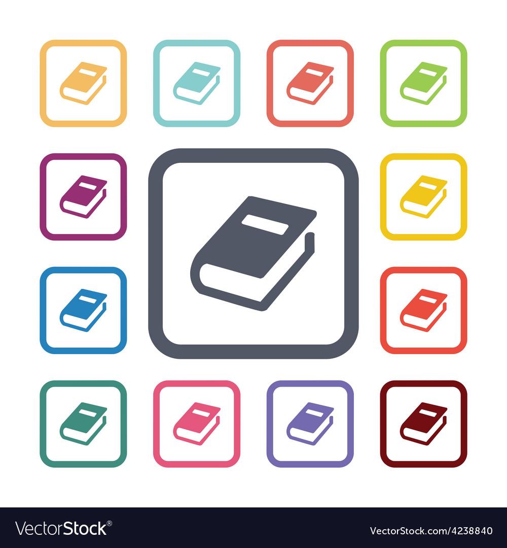 Books flat icons set vector   Price: 1 Credit (USD $1)