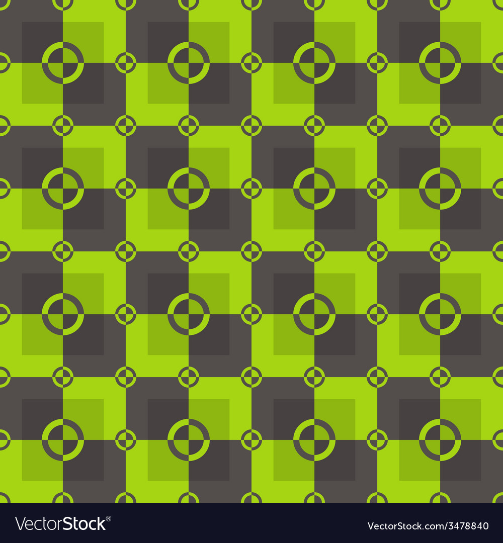 Circle-squares pattern in acid and brown colors vector | Price: 1 Credit (USD $1)