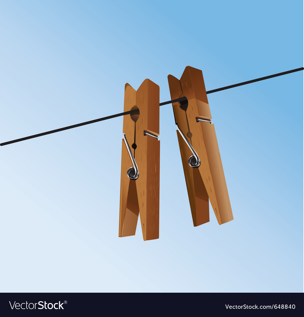 Clothing pegs vector | Price: 1 Credit (USD $1)