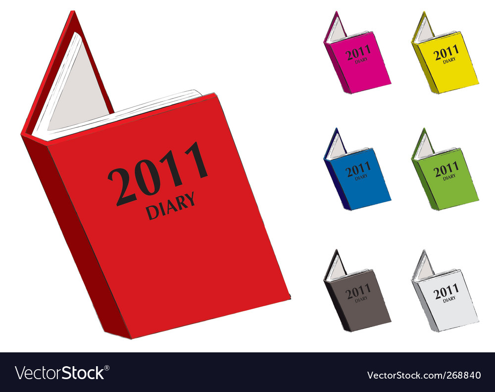 Diary 2011 vector | Price: 1 Credit (USD $1)