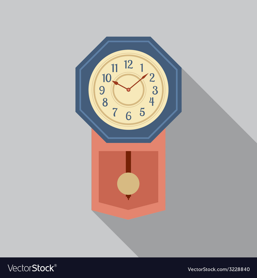 Grandfather pendulum clock vector | Price: 1 Credit (USD $1)