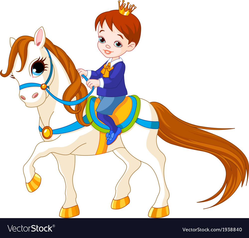 Little prince on horse vector | Price: 3 Credit (USD $3)