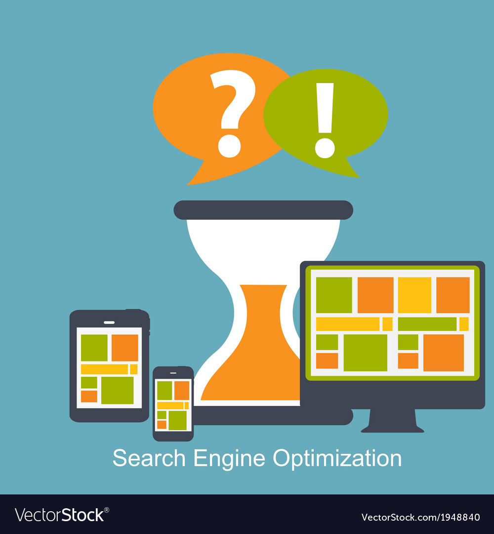 Seo - search engine optimization flat icon vector | Price: 1 Credit (USD $1)