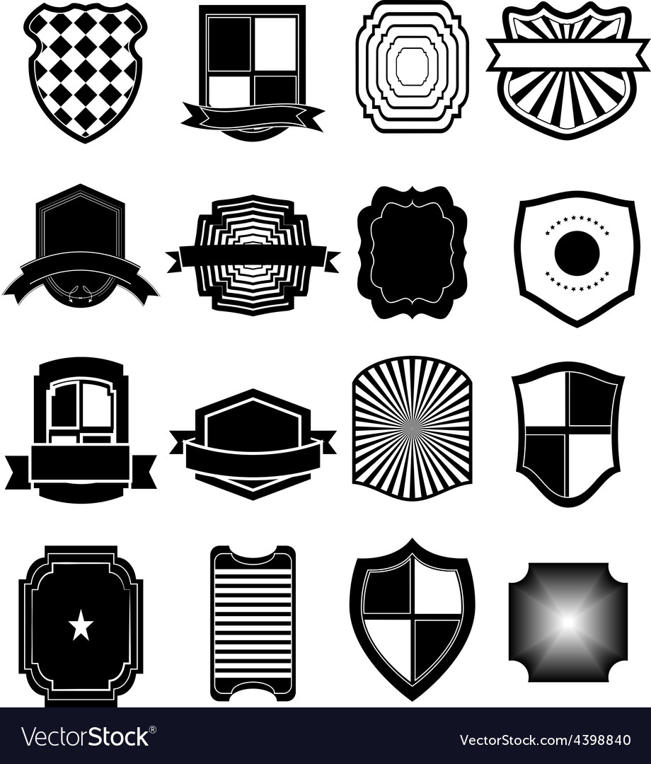 Shield icons set vector | Price: 3 Credit (USD $3)