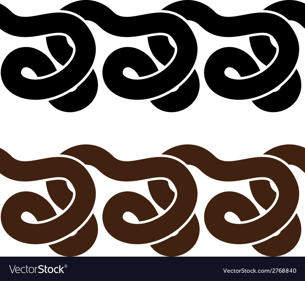 Snake seamless silhouettes vector | Price: 1 Credit (USD $1)