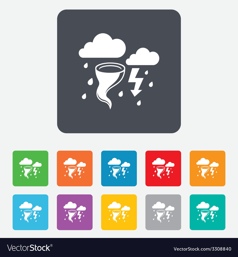 Storm bad weather sign icon gale hurricane vector | Price: 1 Credit (USD $1)