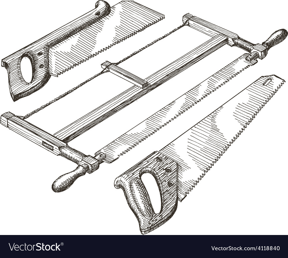 Tools logo design template hacksaw vector | Price: 3 Credit (USD $3)
