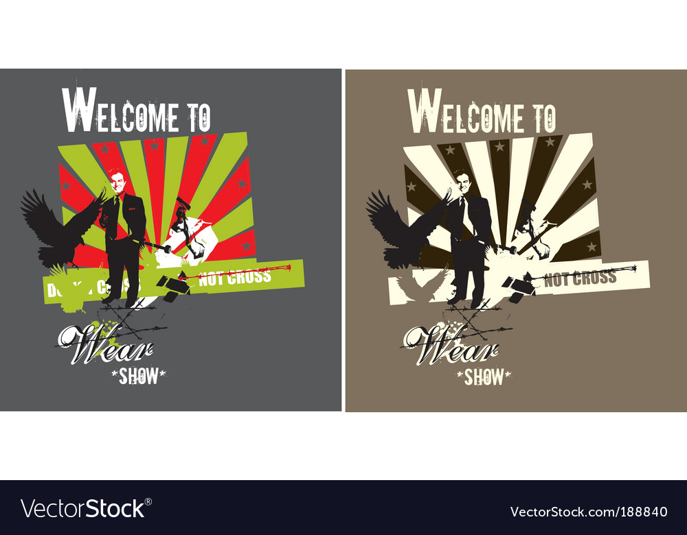 T-shirt print vector | Price: 1 Credit (USD $1)