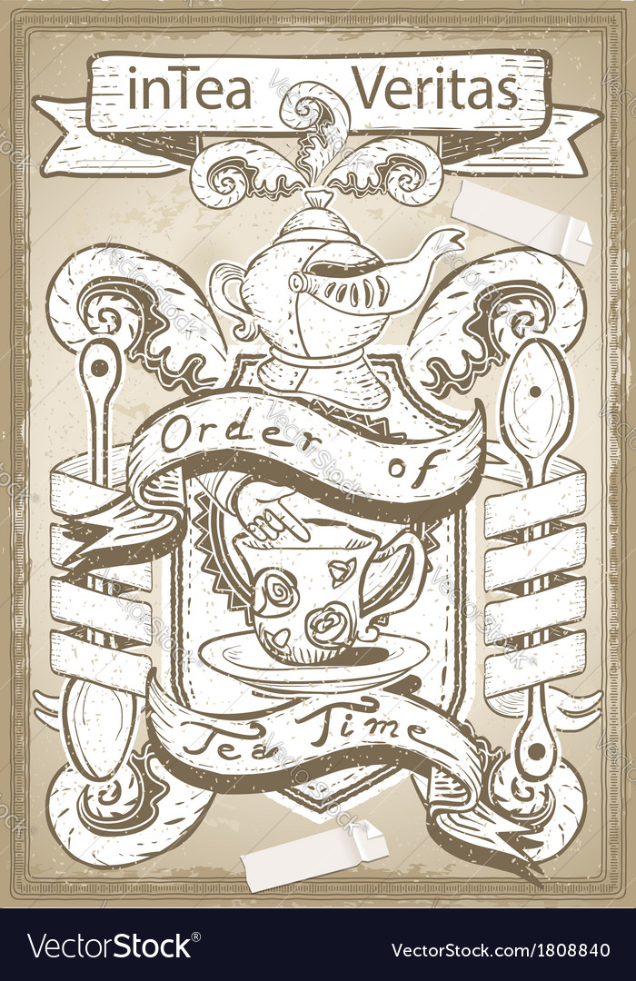 Vintage coat of arm for bar or restaurant vector | Price: 1 Credit (USD $1)