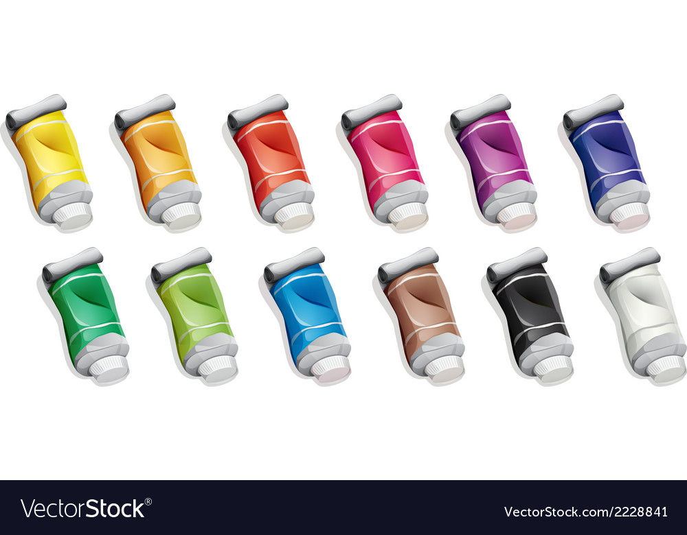A group of medicinal tubes vector | Price: 1 Credit (USD $1)