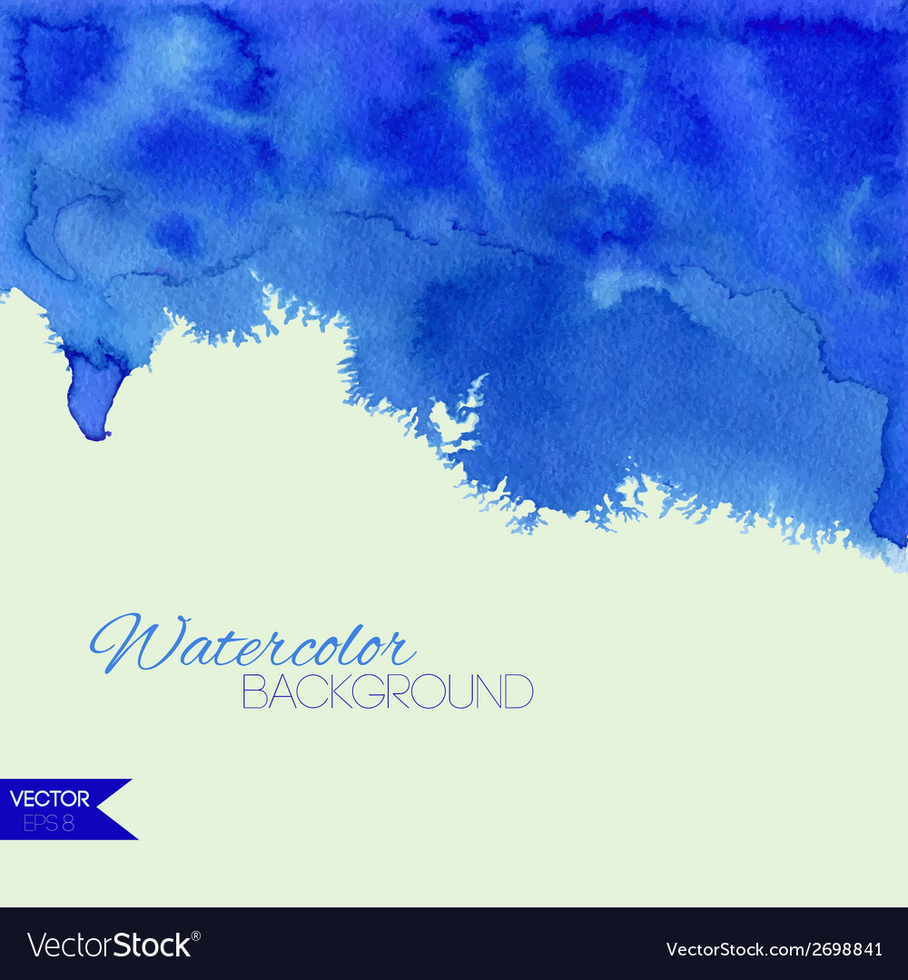 Blue watercolor background vector   Price: 1 Credit (USD $1)