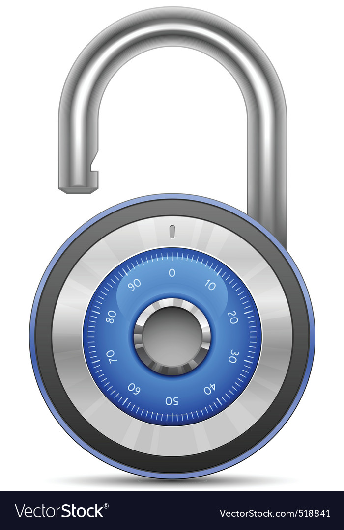 Combination lock collection vector   Price: 1 Credit (USD $1)