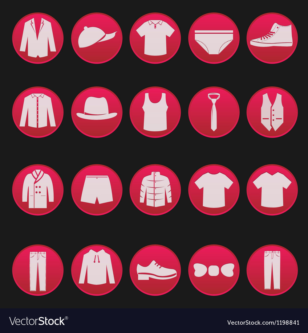 Mens clothing icon 1 vector | Price: 1 Credit (USD $1)