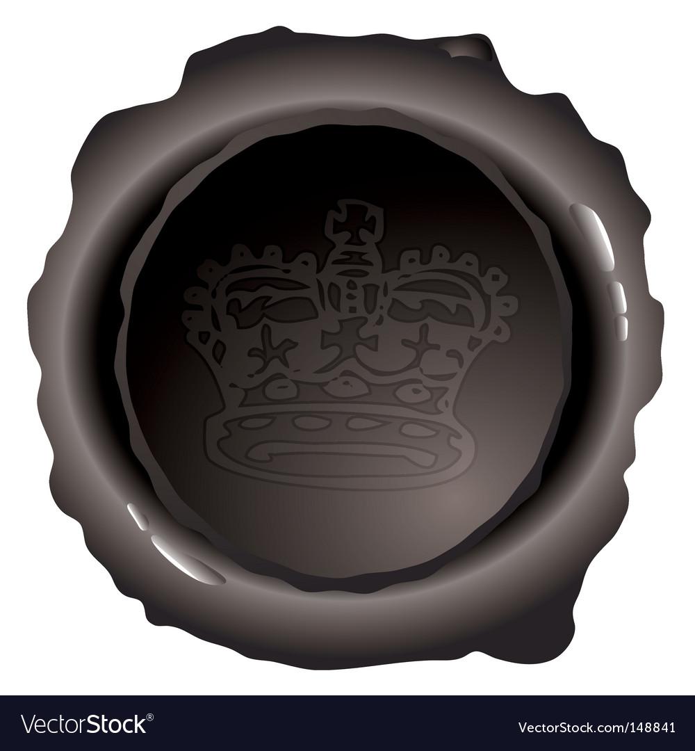 Royal wax seal vector | Price: 1 Credit (USD $1)