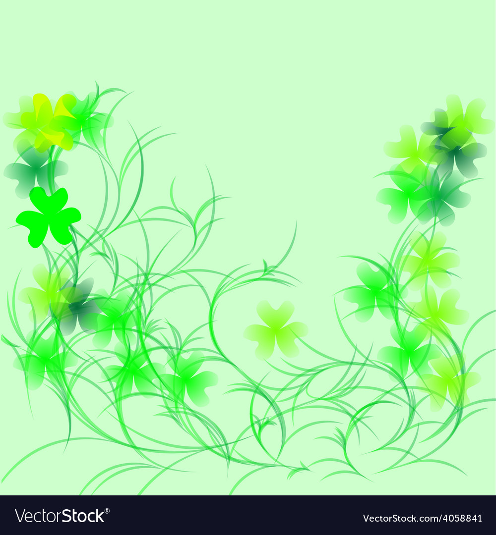 Shamrock on a green vector | Price: 1 Credit (USD $1)