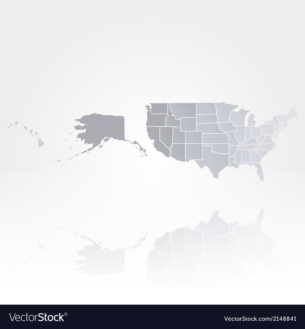 United states of america map background vector | Price: 1 Credit (USD $1)