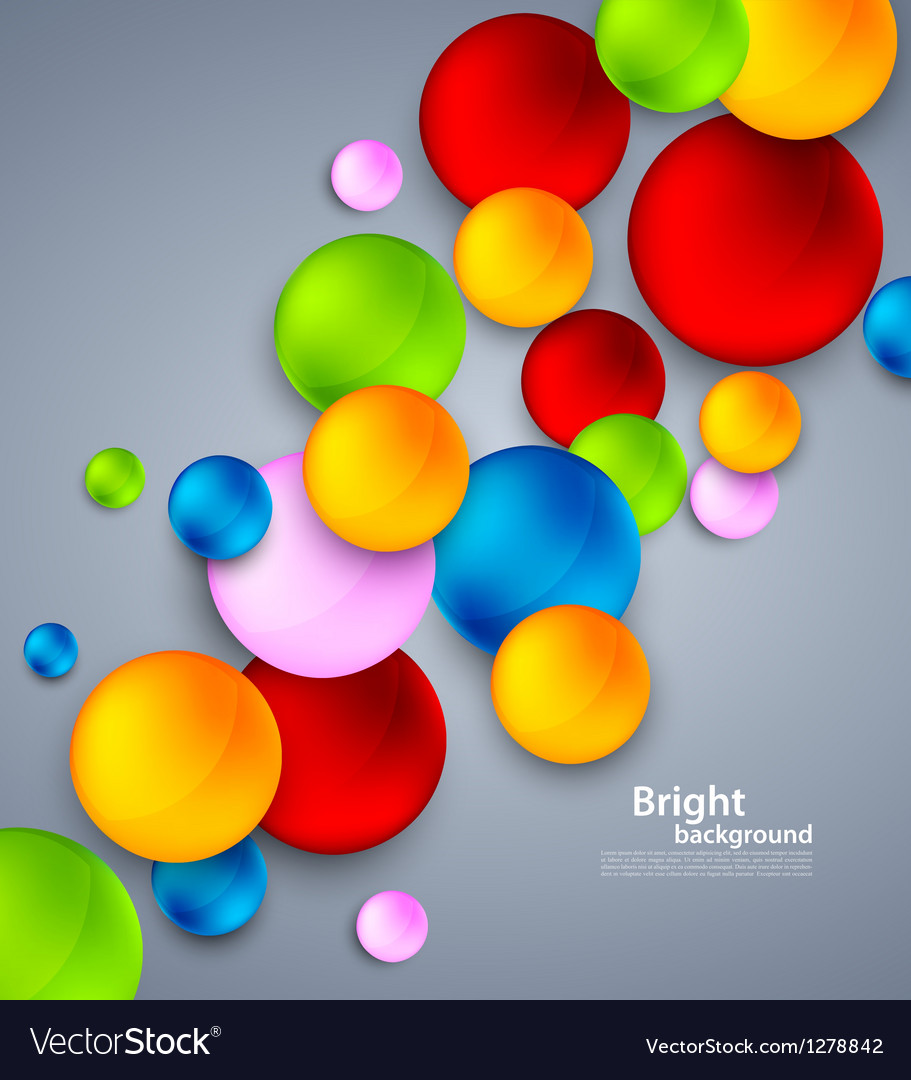 Abstract background with colorful bubbles vector | Price: 1 Credit (USD $1)