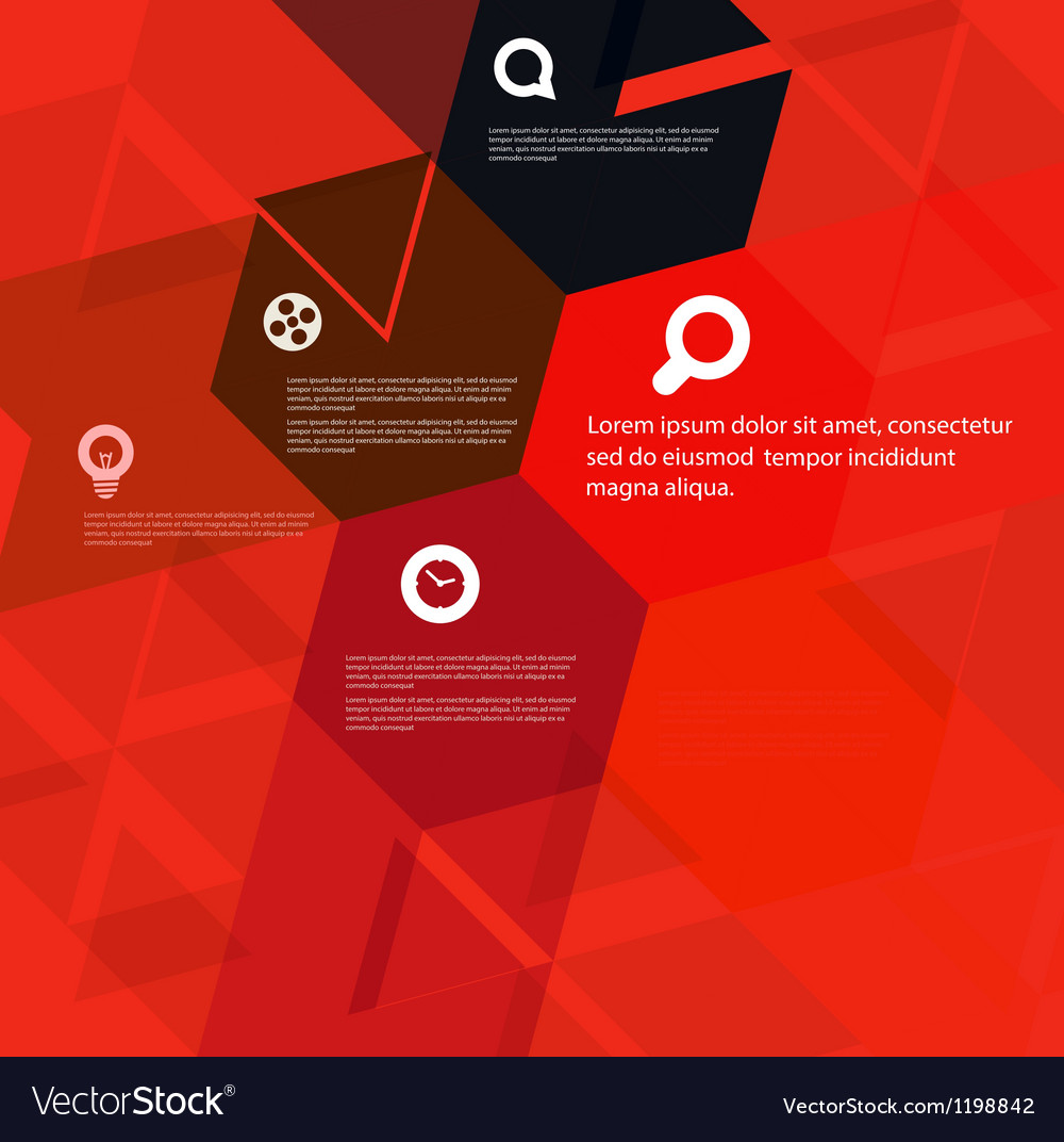 Abstract geometric design template vector | Price: 1 Credit (USD $1)