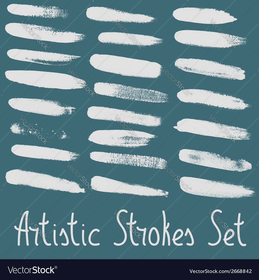 Artistic strokes set vector | Price: 1 Credit (USD $1)