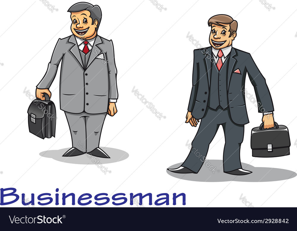 Cartoon businessman characters vector | Price: 1 Credit (USD $1)