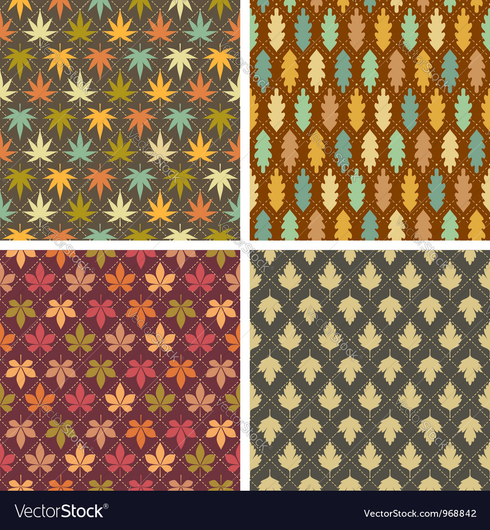 Colorful leaves patterns vector | Price: 1 Credit (USD $1)