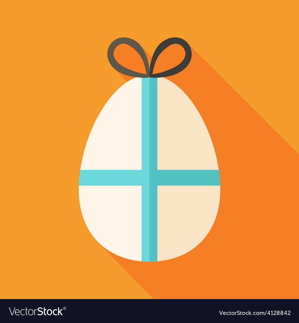 Easter egg with bow vector | Price: 1 Credit (USD $1)
