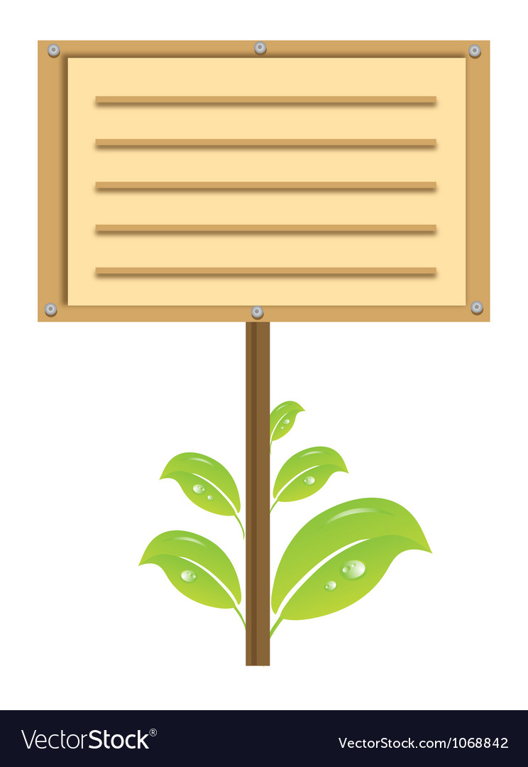 Eco signboard vector | Price: 1 Credit (USD $1)