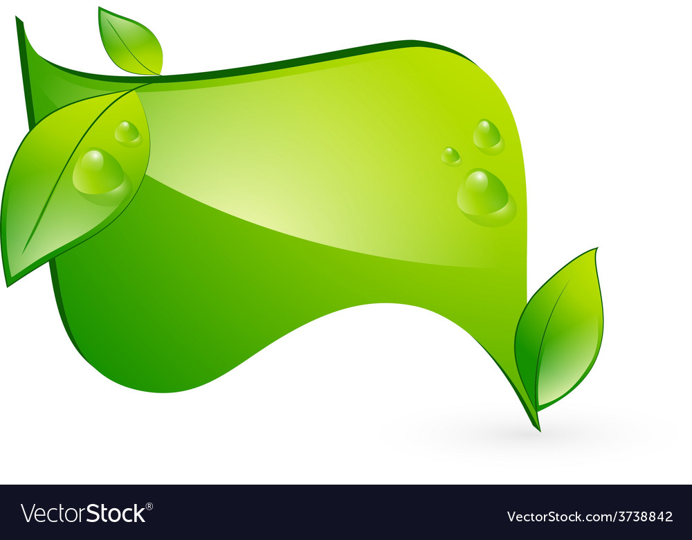 Green eco banner vector | Price: 1 Credit (USD $1)