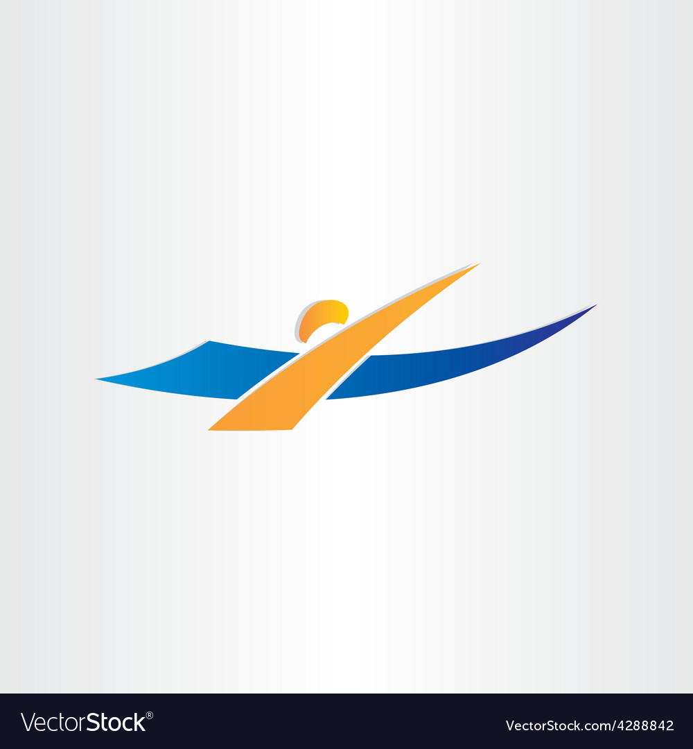 Man swimming icon swimmer vector   Price: 1 Credit (USD $1)