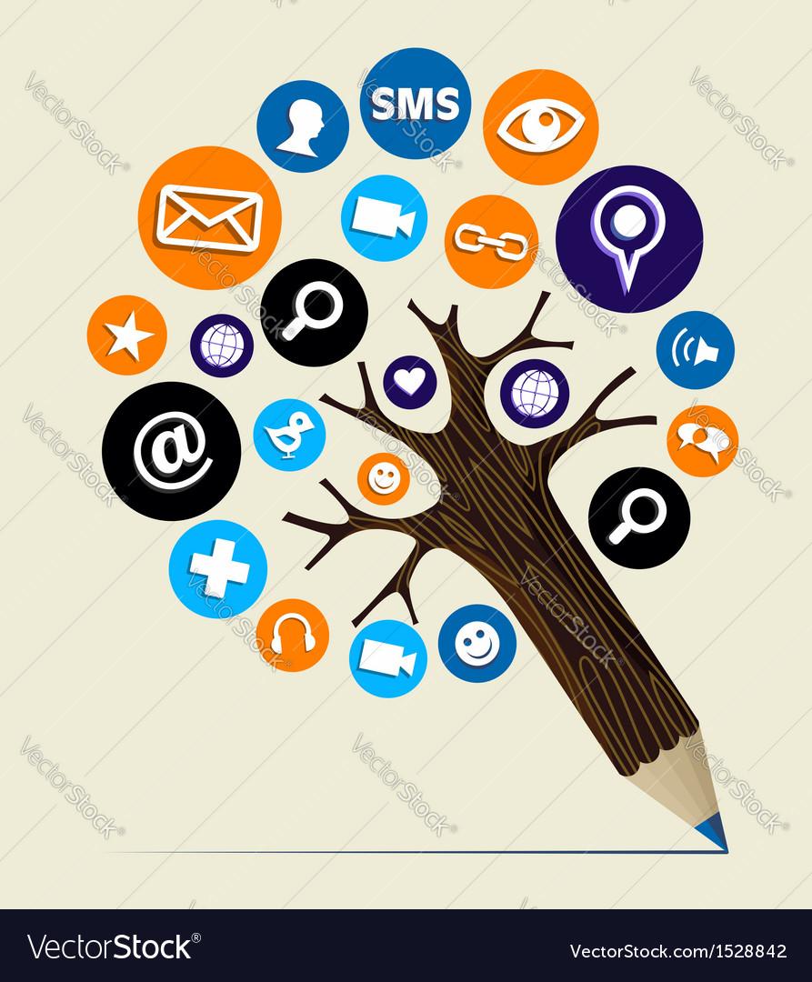 Marketing web concept pencil tree vector | Price: 1 Credit (USD $1)