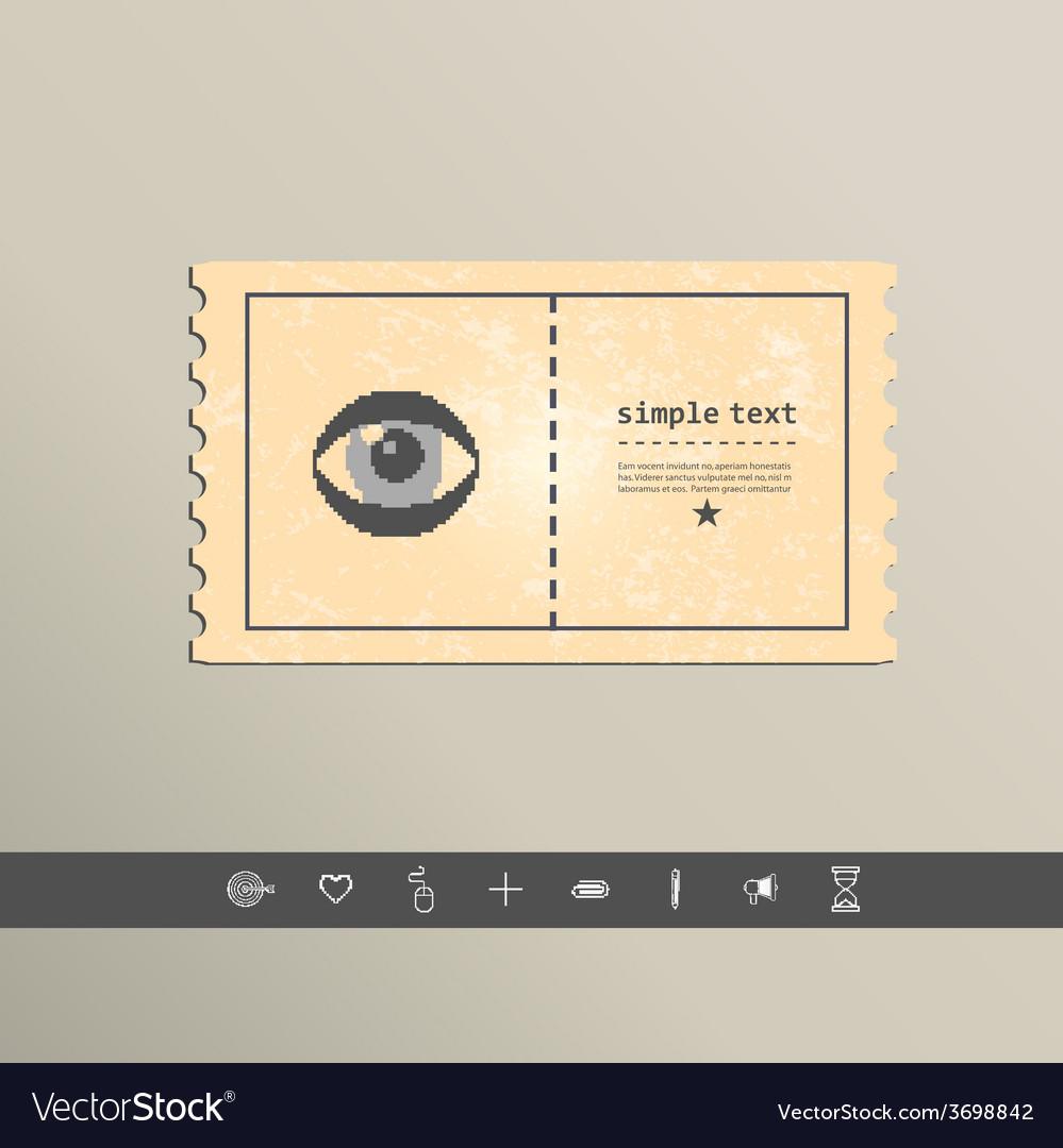 Simple stylish pixel eye icon design vector | Price: 1 Credit (USD $1)