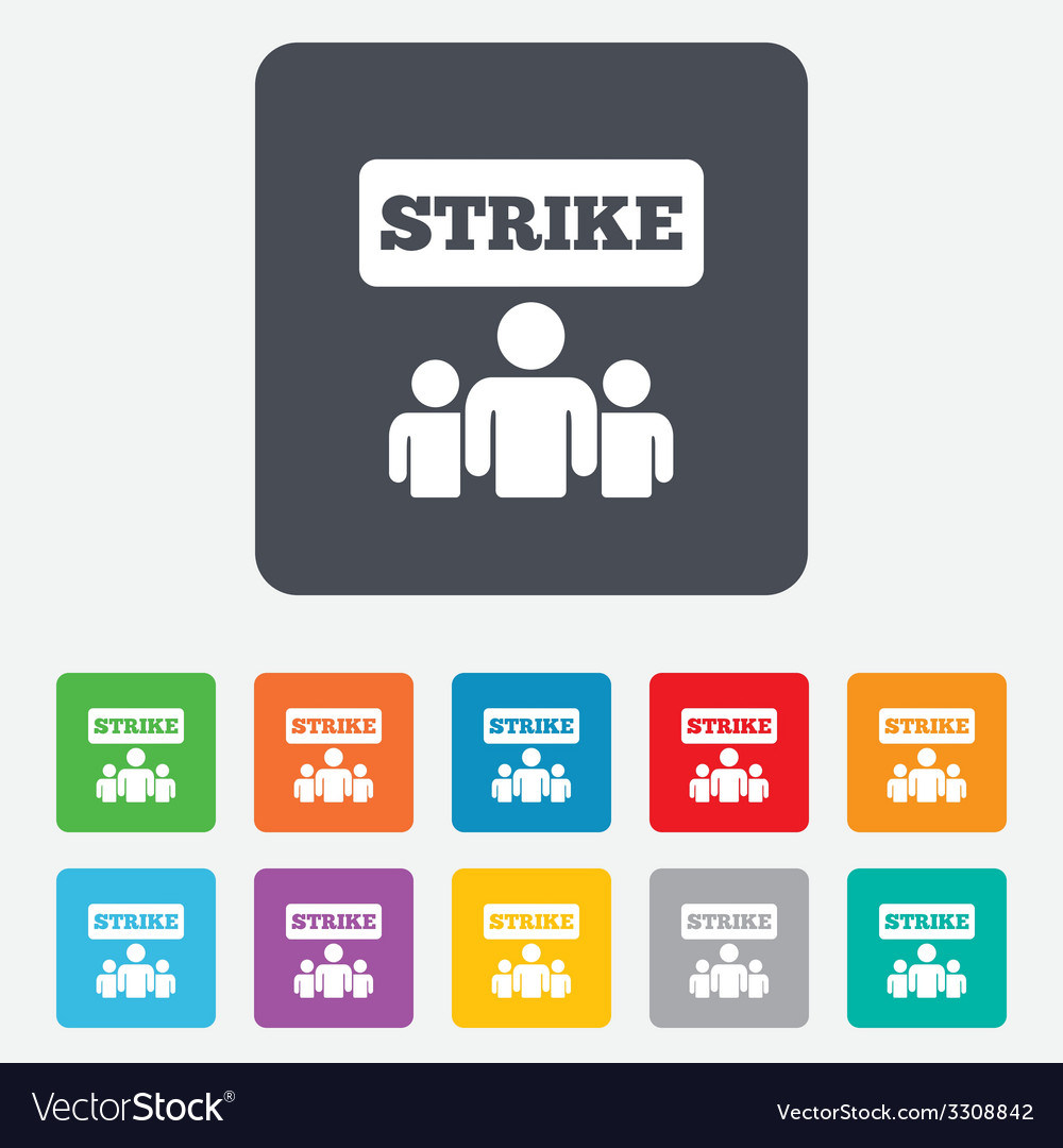 Strike sign icon group of people symbol vector | Price: 1 Credit (USD $1)