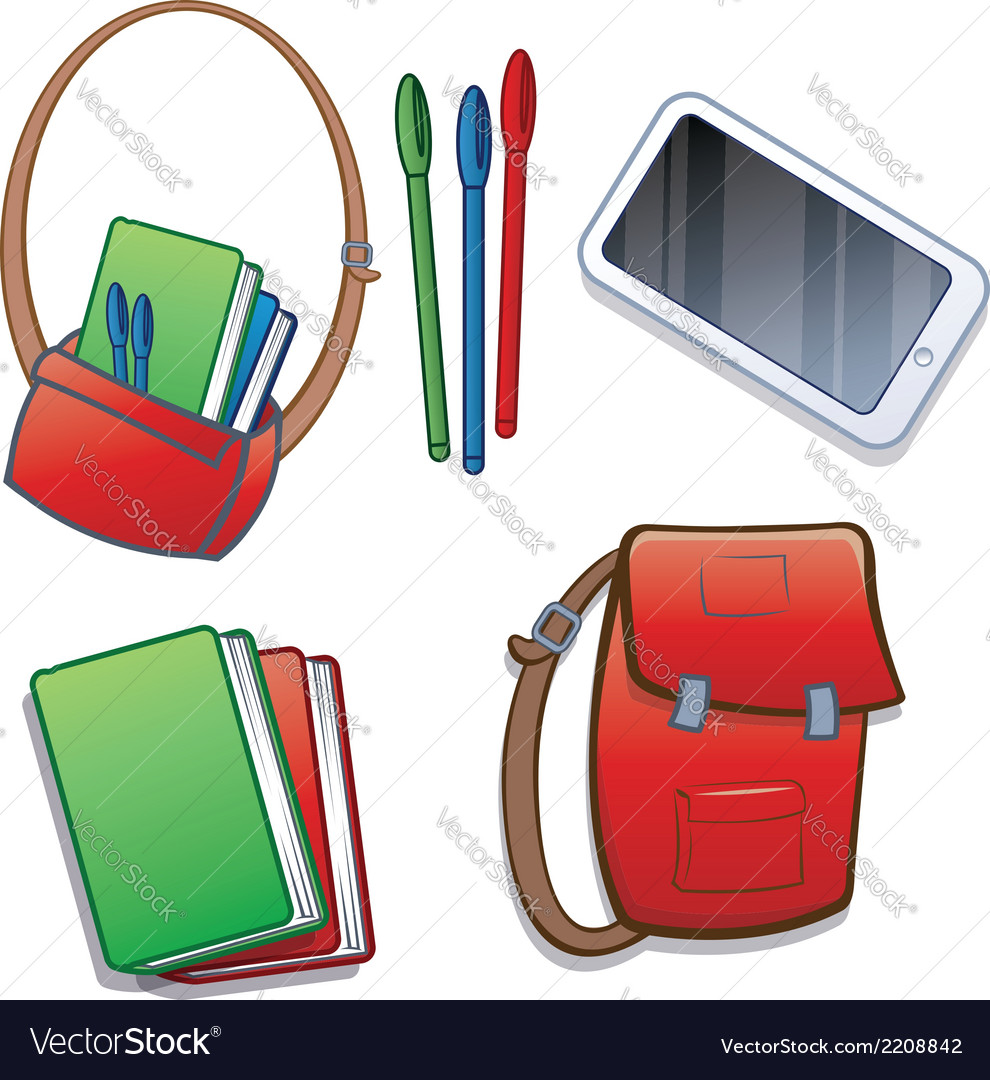 Student school or college items vector | Price: 1 Credit (USD $1)