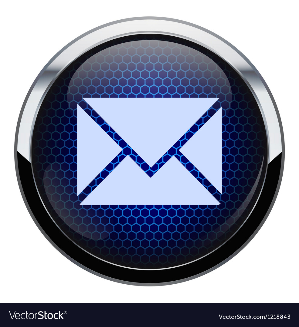 Blue honeycomb mail icon vector | Price: 1 Credit (USD $1)