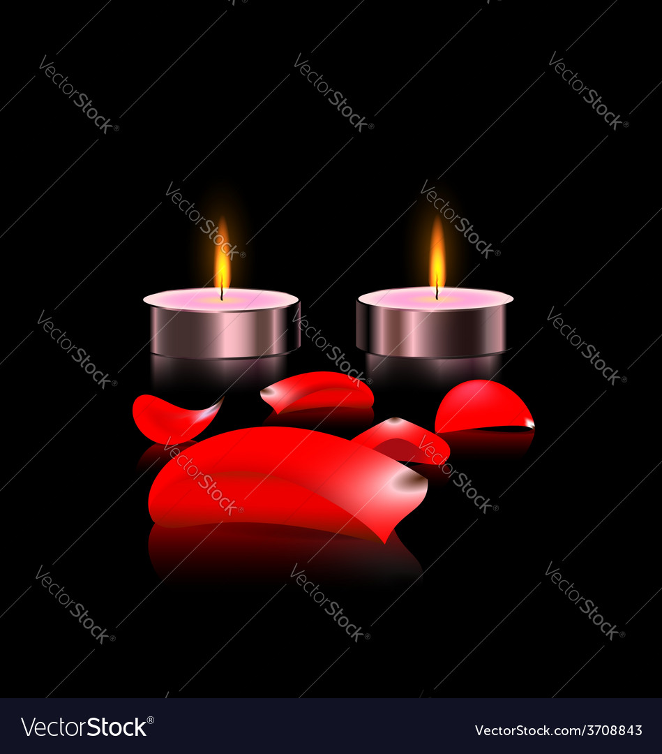 Candles and petals vector | Price: 1 Credit (USD $1)