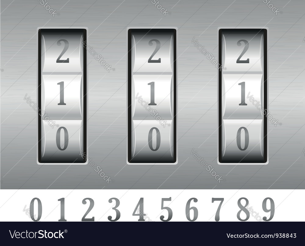 Combination lock 02 vector | Price: 1 Credit (USD $1)