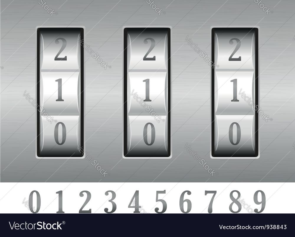 Combination lock 02 vector | Price: 1 Credit (USD $1)