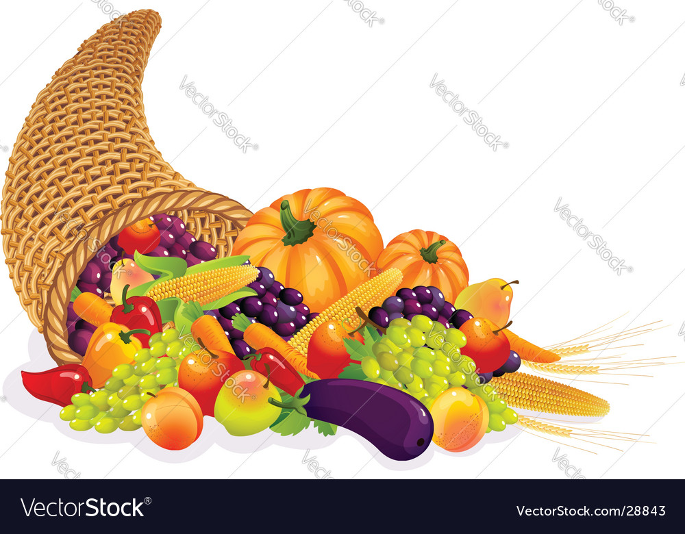 Cornucopia vector | Price: 3 Credit (USD $3)