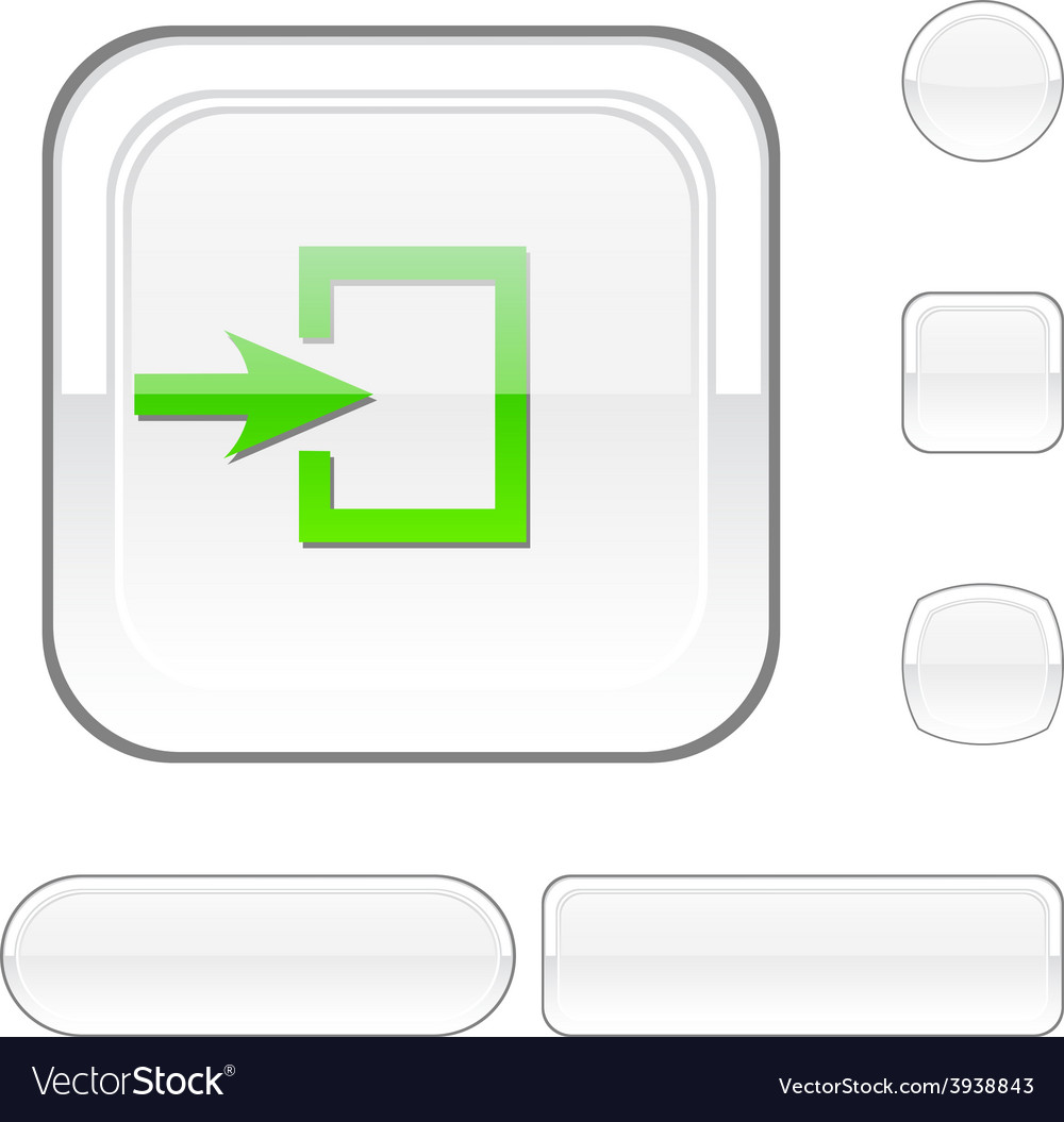 Entrance white button vector | Price: 1 Credit (USD $1)