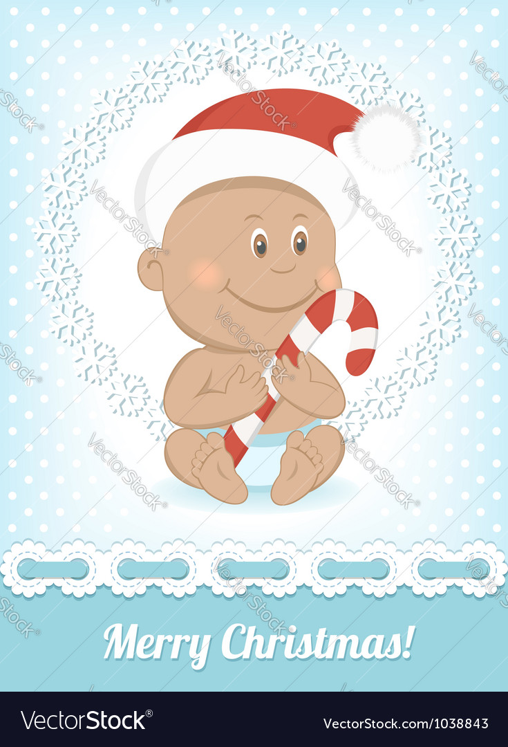 Funny christmas african baby vector | Price: 3 Credit (USD $3)